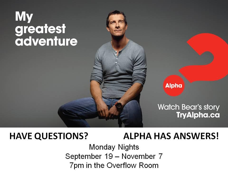 ALPHA at UBC